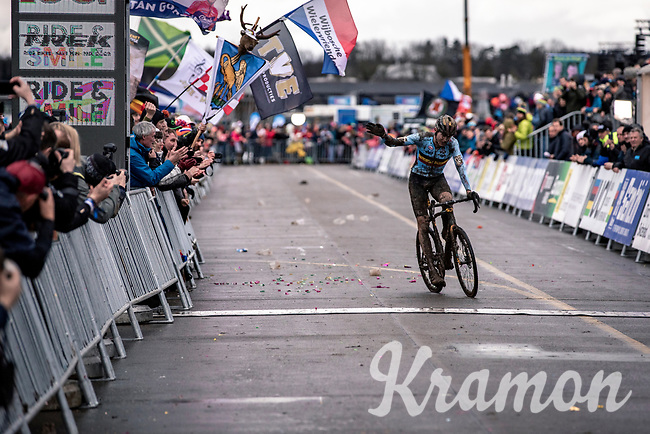 Toon Aerts (BEL) finishing 3th place. <br /> <br /> Men's Elite race<br /> UCI 2020 Cyclocross World Championships<br /> Dübendorf / Switzerland<br /> <br /> ©kramon