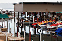 A boatyard on the north shore of Lake Tahoe.