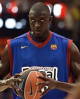 Partido de la Liga Endesa 2011-2012 Tercer/Cuarto partido Play Off disputado entre el Valencia  Basket y el Barcelona Regal en el Pabellon Fuente San Luis en Valencia, Miercoles 30 de Mayo de 2012.. .