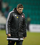 03.04.2018 Hibs v Hamilton <br /> Dejected Martin Canning after speaking to the ref at FT