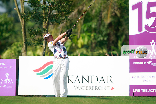 Joost Luiten (NED) tees off on the 15th tee during Saturday's storm delayed conclusion of Round 2 of the Iskandar Johor Open 2011 at the Horizon Hills Golf Resort Johor, Malaysia, 19th November 2011 (Photo Eoin Clarke/www.golffile.ie)