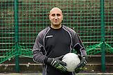 Patrik Herak Torwart und Nachwuchstrainer, Roma Fußballmannschaft in Decin. Sie spielen in der tschechischen Kreisklasse und werden  oft boykottiert von den anderen Klubs. / Czech roma  soccerteam