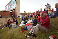 NWA Democrat-Gazette/BEN GOFF @NWABENGOFF<br /> Steve Rugger of Bentonville watches pregame activities on Saturday Nov. 12, 2016 on the grassy hill on the North end of Razorback Stadium in Fayetteville before the Arkansas football game against LSU.