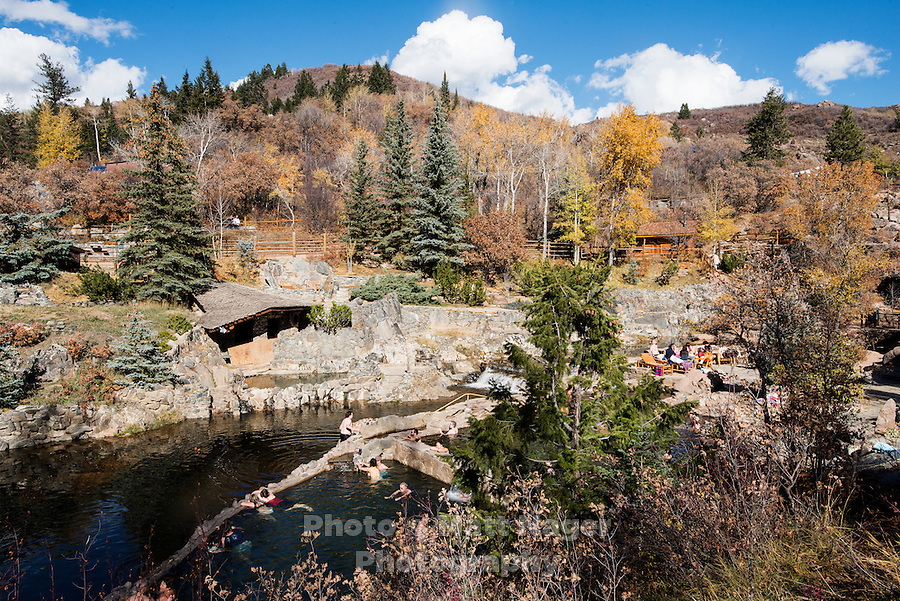 Strawberry Park Hot Springs in Steamboat, Colorado.<br /> <br /> Photo by Matt Nager