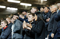 Swansea City fans during the Sky Bet Championship match between Charlton Athletic and Swansea City at The Valley, London, England, UK. Wednesday 02 October 2019