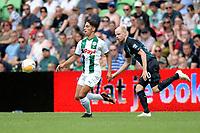 GRONINGEN - Voetbal, FC Groningen - Werder Bremen, voorbereiding seizoen 2018-2019, 29-07-2018, FC Groningen speler Ludevit Reis met Davy Klaassens