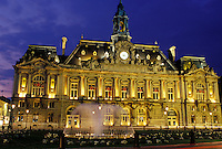 Tours, France, Indre-et-Loire, Loire Valley, Loire Castle Region, Centre, Europe, Hotel de Ville, City Hall in the city of Tours.