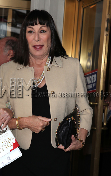 Anjelica Huston.attending 'Gore Vidal - A Celebration' at the Schoenfeld Theatre in New York City on August 23, 2012
