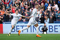 Swansea City's Bersant Celina celebrates scoring his side's second goal <br /> <br /> Photographer Ian Cook - CameraSport<br /> <br /> The EFL Sky Bet Championship - Swansea City v Ipswich Town - Saturday 6th October 2018 - Liberty Stadium - Swansea<br /> <br /> World Copyright &copy; 2018 CameraSport. All rights reserved. 43 Linden Ave. Countesthorpe. Leicester. England. LE8 5PG - Tel: +44 (0) 116 277 4147 - admin@camerasport.com - www.camerasport.com