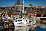 Fishing boat in Newport, RI, USA