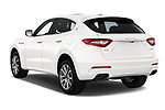 Car pictures of rear three quarter view of a 2020 Maserati Levante S 5 Door SUV angular rear