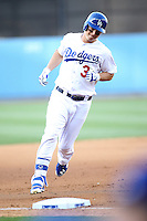 05/13/15 Los Angeles, CA: Los Angeles Dodgers center fielder Joc Pederson #31 during an MLB game played at Dodger Stadium between the Miami Marlins and The Los Angeles Dodgers. The Marlins defeated the Dodgers 5-4