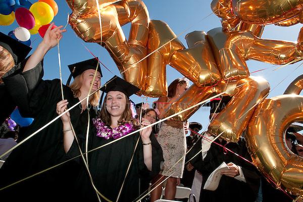 Stanford undergraduate commencement graduation ceremonies at Stanford Stadium.