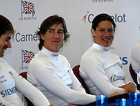 Reading, GREAT BRITAIN, right,  Annie VERNON and Katherine GRAINGER, GB Rowing 2007 FISA World Cup Team Announcement, at the GB Training centre, Caversham, England on Thur. 26.04.2007  [Photo, Peter Spurrier/Intersport-images]..... , Rowing course: GB Rowing Training Complex, Redgrave Pinsent Lake, Caversham, Reading