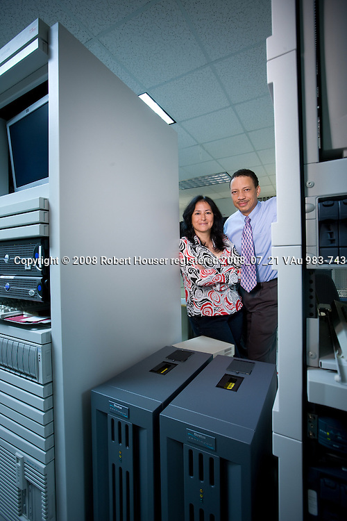 Cecil Lawson - Program Manager, CIO and Margie Zamora - Supervising Applications Analyst - San Jose Police Department: Executive portrait photographs by San Francisco - corporate and annual report - photographer Robert Houser.