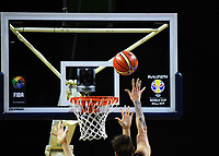 New Zealand's Issac Fotu lays a shot up during the FIBA World Cup qualifier between the New Zealand Tall Blacks and South Korea at TSB Bank Arena in Wellington, New Zealand on Thursday, 23 November 2017. Photo: Dave Lintott / lintottphoto.co.nz