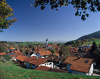 DEU, Deutschland, Bayern, Oberbayern, Allgaeu, Nesselwang: Urlaubs- und Ferienort | DEU, Germany, Bavaria, Upper Bavaria, Allgaeu, Nesselwang: holiday resort