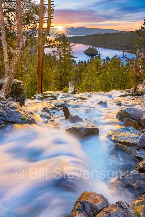 Sunrise at Eagle Falls near Lake Tahoe in California