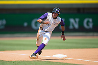 Brandon Dulin (31) of the Winston-Salem Dash rounds third base during the game against the Salem Red Sox at BB&T Ballpark on July 23, 2017 in Winston-Salem, North Carolina.  The Dash defeated the Red Sox 11-10 in 11 innings.  (Brian Westerholt/Four Seam Images)