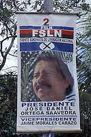 Campaign poster showing 2006 presidential candidate Daniel Ortega, Moyogalpa, Isla de Ometepe, Nicaragua