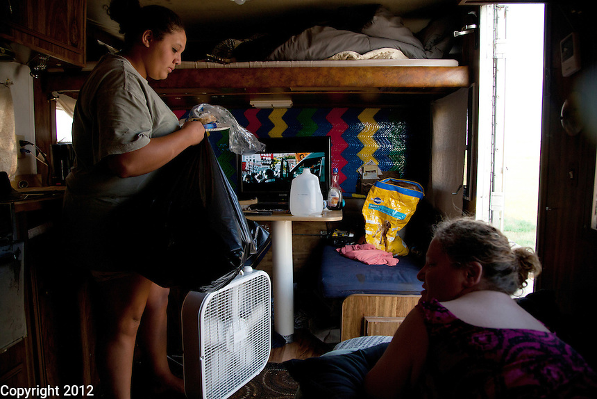 Kira Bell picks up in the trailer while her mom, Wendy Bell, directs.