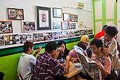 Customers eat chendol and rojak at Penang's famous Teo Chew Chendol restaurant in Georgetown of Penang, Malaysia. Photo: Sanjit Das/Panos