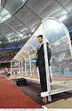 Takashi Sekizuka (JPN),.FEBRUARY 22, 2012 - Football / Soccer :.U-23 Japan head coach Takashi Sekizuka before the 2012 London Olympics Asian Qualifiers Final Round Group C match between U-23 Malaysia 0-4 U-23 Japan at National Stadium Bukit Jalil in Kuala Lumpur, Malaysia. (Photo by Takamoto Tokuhara/AFLO)