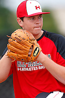 August 7, 2009:  Pitcher Dan Child (34) of Team One during the Under Armour All-America event at Les Miller Field in Chicago, IL.  Photo By Mike Janes/Four Seam Images