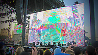 MGMT provides trippy, psychedelic visuals during their set on Saturday, April 19th.