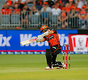 3rd February 2019, Optus Stadium, Perth, Australia; Australian Big Bash Cricket League, Perth Scorchers versus Melbourne Stars; Michael Klinger of the Perth Scorchers plays a cover drive during his innings