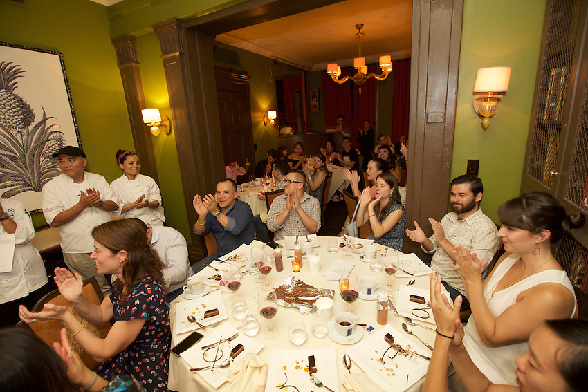 New York, NY - September 18, 2016:  The James Beard Foundation's Greens group welcomes chefs from Queens for its second annual Queens Cooks dinner.<br /> CREDIT: Clay Williams for the James Beard Foundation.<br /> <br /> &copy; Clay Williams / claywilliamsphoto.com