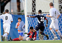 Florida International University men's soccer player Eric Reyes (1)  plays against Florida Atlantic University on August 28, 2011 at Miami, Florida.  The game ended in a 1-1 overtime tie. .
