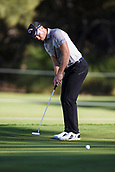 9th February 2018, Lake Karrinyup Country Club, Karrinyup, Australia; ISPS HANDA World Super 6 Perth golf, second round; Thorbjorn Olesen (DEN) putts