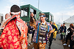 Marcel Kittel dressed as Samurai on stage before the Tour de France Saitama Crit&eacute;rium 2017 held around the streets os Saitama, Japan. 3rd November 2017.<br /> Picture: ASO/Pauline Ballet | Cyclefile<br /> <br /> <br /> All photos usage must carry mandatory copyright credit (&copy; Cyclefile | ASO/Pauline Ballet)
