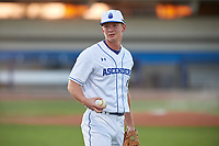 IMG Academy Ascenders shortstop Mac Horvath (9) during warmups before a game on February 28, 2020 at IMG Academy in Bradenton, Florida.  (Mike Janes/Four Seam Images)