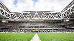 Stockholm 2014-06-18 Fotboll Superettan Hammarby IF - GAIS :  <br /> Hammarbys och GAIS spelare har lineup i Tele2 Arena innan matchen<br /> (Foto: Kenta J&ouml;nsson) Nyckelord:  Superettan Tele2 Arena Hammarby HIF Bajen GAIS inomhus interi&ouml;r interior