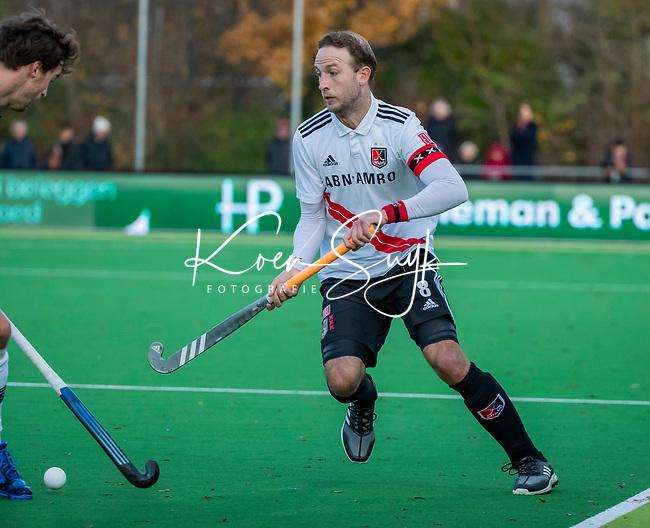 AMSTELVEEN - Billy Bakker (Adam)  tijdens de competitie hoofdklasse hockeywedstrijd heren, Pinoke-Amsterdam (1-1)   COPYRIGHT KOEN SUYK
