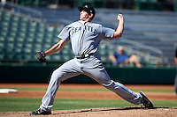 Peoria Javelinas pitcher James Paxton #45, of the Seattle Mariners organization, during an Arizona Fall League game against the Mesa Solar Sox at HoHoKam Park on October 15, 2012 in Mesa, Arizona.  Peoria defeated Mesa 9-2.  (Mike Janes/Four Seam Images)