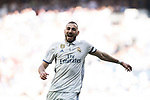 Karim Benzema of Real Madrid in action during their La Liga match between Real Madrid and Atletico de Madrid at the Santiago Bernabeu Stadium on 08 April 2017 in Madrid, Spain. Photo by Diego Gonzalez Souto / Power Sport Images