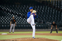 AZL Cubs starting pitcher Brailyn Marquez (58) delivers a pitch to the plate against the AZL Giants on September 6, 2017 at Sloan Park in Mesa, Arizona. AZL Giants defeated the AZL Cubs 6-5 to even up the Arizona League Championship Series at one game a piece. (Zachary Lucy/Four Seam Images)