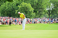 Sergio Garcia (ESP) watches his putt on 18 during round 4 of the Dean &amp; Deluca Invitational, at The Colonial, Ft. Worth, Texas, USA. 5/28/2017.<br /> Picture: Golffile | Ken Murray<br /> <br /> <br /> All photo usage must carry mandatory copyright credit (&copy; Golffile | Ken Murray)