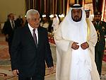 Palestinian President Mahmoud Abbas meets with UAE prince Sheikh Khalifa bin Zayed Al Nahyan in Abu Dhabi.