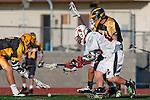 Palos Verdes, CA 03/31/10 - \PJ2\ and Nolan Fodemski (PV # 25) in action during the Peninsula-Palos Verdes Junior Varsity Lacrosse game at Palos Verdes High School.  Palos Verdes defeated Peninsula.
