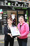 Staff of Stockwell Artisan Foods with the raffle prise they are giving at the Love Street Valentines Event on Stockwell Lane...Photo NEWSFILE/Jenny Matthews.(Photo credit should read Jenny Matthews/NEWSFILE)....This Picture has been sent you under the condtions enclosed by:.Newsfile Ltd..The Studio,.Millmount Abbey,.Drogheda,.Co Meath..Ireland..Tel: +353(0)41-9871240.Fax: +353(0)41-9871260.GSM: +353(0)86-2500958.email: pictures@newsfile.ie.www.newsfile.ie.FTP: 193.120.102.198.
