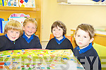 The junior infants class of Scoil Nasiunta Thullacha, Bonane, Kenmare Pearse O'Brien, Rown Johnston, Patrick Bisogno and Micheal Connolly.   Copyright Kerry's Eye 2008