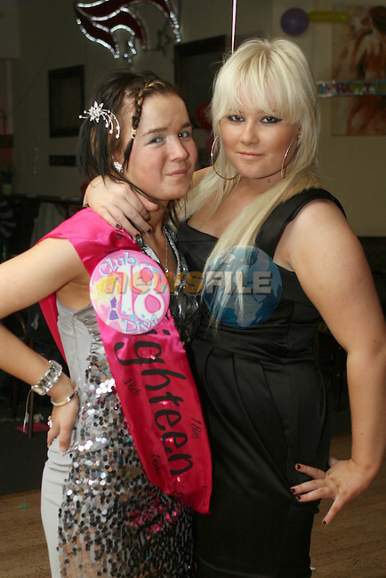Melissa Campbell with Kaila Fitzpatrick at her 18th in Corrigans...Photo NEWSFILE/Jenny Matthews.(Photo credit should read Jenny Matthews/NEWSFILE)....This Picture has been sent you under the condtions enclosed by:.Newsfile Ltd..The Studio,.Millmount Abbey,.Drogheda,.Co Meath..Ireland..Tel: +353(0)41-9871240.Fax: +353(0)41-9871260.GSM: +353(0)86-2500958.email: pictures@newsfile.ie.www.newsfile.ie.FTP: 193.120.102.198.