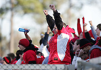 A Maryland fan reacts after a New Mexico penalty kick was saved in the second half. The University of Maryland Terrapins defeated the University of New Mexico Lobos 1-0 in the Men's College Cup Championship game at SAS Stadium in Cary, NC, Friday, December 11, 2005.