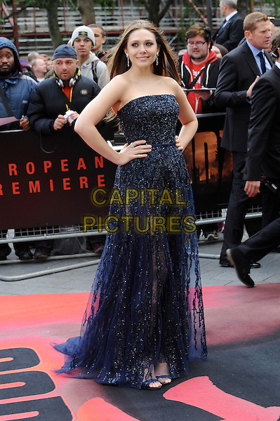 LONDON, ENGLAND - MAY 11: Elizabeth Olsen attends the European Premiere of Godzilla at the Odeon Leicester Square, on May 11, 2014 in London, England<br /> CAP/BEL<br /> &copy;Tom Belcher/Capital Pictures