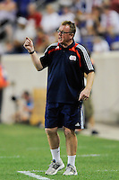 New England Revolution head coach Steve Nicol. The New York Red Bulls defeated the New England Revolution 2-1 during a Major League Soccer (MLS) match at Red Bull Arena in Harrison, NJ, on June 10, 2011.