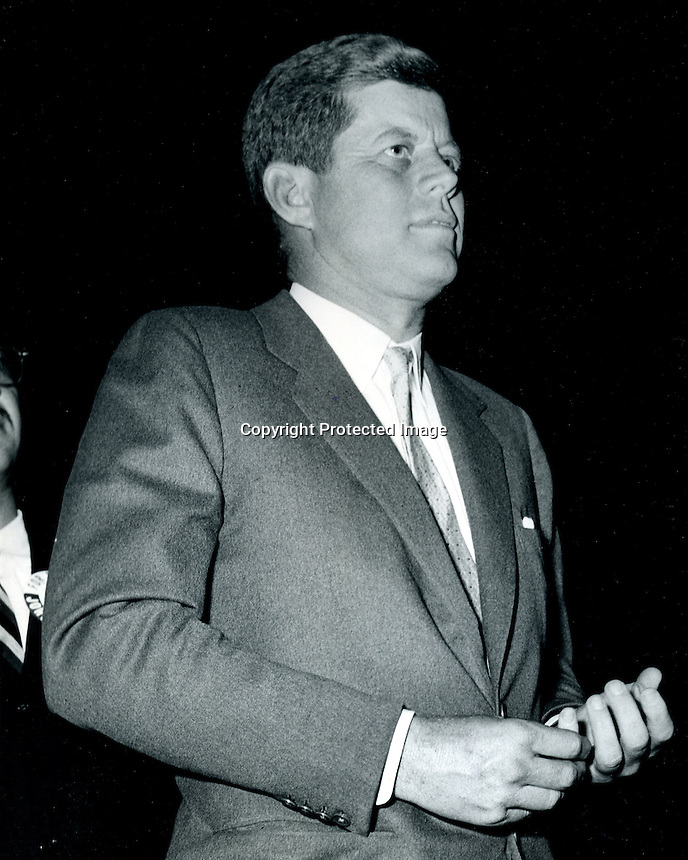 John F. Kennedy on the campaign trail in Oakland, Ca.1960. (photo by Ron Riesterer)